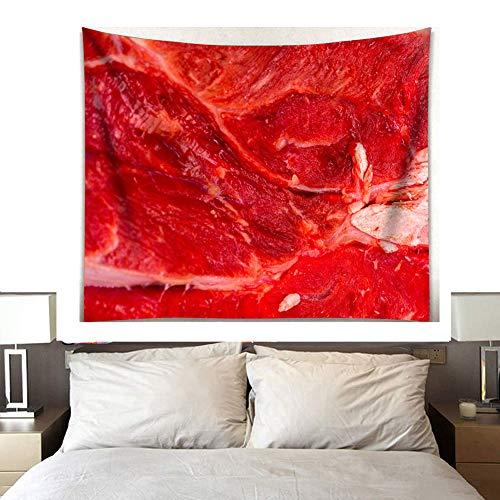 Tapisserie Badetuch Vorhang Blutiges Fleisch Halloween-Party-Wand 3D HD-Druck Schlafzimmer Wohnzimmer Studentenwohnheim Dekor Schreckliches Spaßgeschenk,C,200 * 150cm