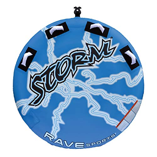 """RAVE Sports Storm Boat Towable Tube for 1-2 Riders, Blue, 54"""" x 9"""""""