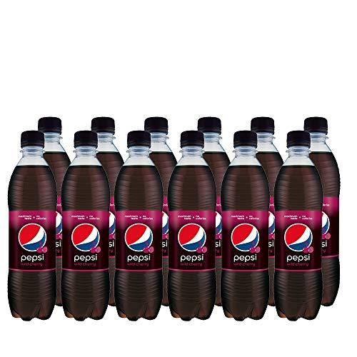 Pepsi Cola Wild Cherry (12 x 500ml) Erfrischende Cherry Cola mit Kirschgeschmack