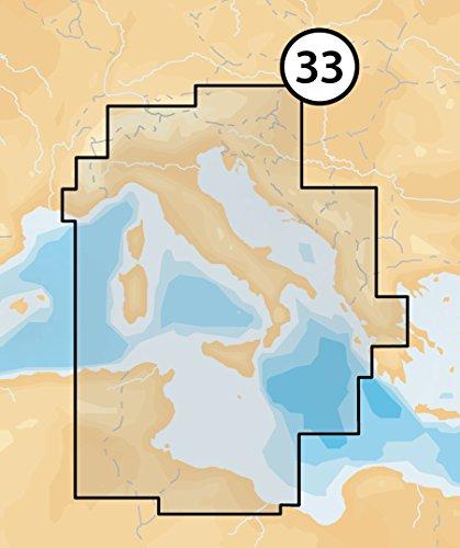 NAVIONICS PLATINUM + XL3microSD–Seekarte, Zone 33P + Mediterraneo Central
