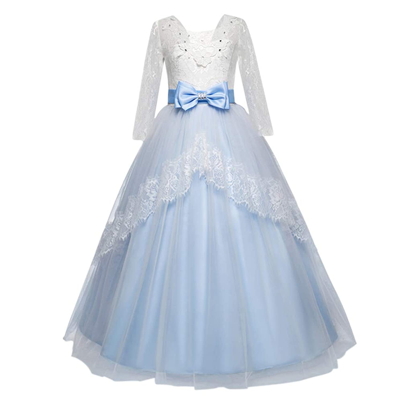 Hzjundasi 子供ドレス 優雅 お姫様 プリンセスドレス チュチュ メッシュ ピアノ/バイオリンパフォーマンス フォーマル 結婚式 発表会 入園式