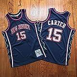 XFKL Maillots pour Hommes Brooklyn Nets #15 Vince Carter 2006-07 Maillots De Basket-Ball Retro Respirant Vest,Noir,XXL