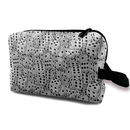 The Dices Close-up Image Portable Travel Cosmetic Bags Makeup Organizer Bags Grande Capacity Toiletry Organizer Cases Travel Pouch Purse
