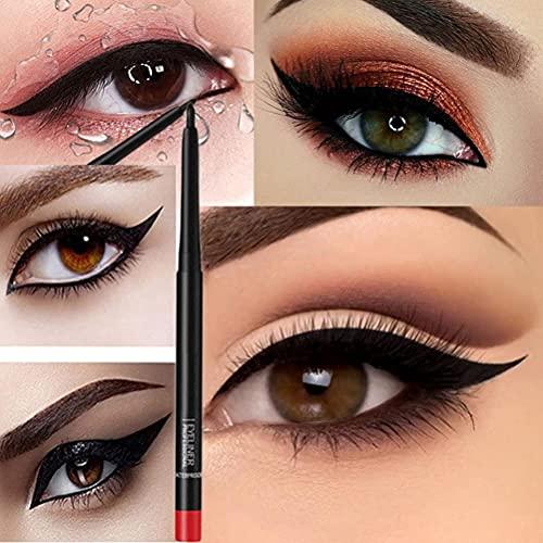 ABCDJHH Eyeliner Gel Pen, Eyeliner Gel Waterproof - Eyeliner Gel Noir avec Twist-Out Livré avec Une Pointe de Crayon Noir