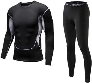 RkYAO Mens Bodycon Quick Dry Stretch Long-Sleeve Slim Base Layer Underwear