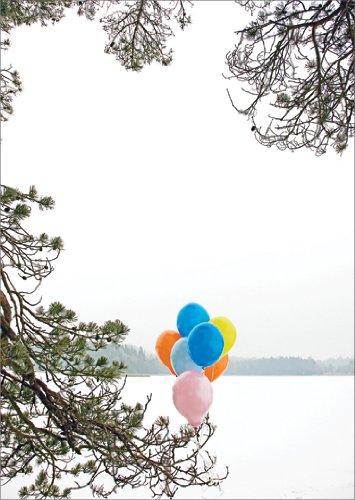 Christian in 5-delige set: Verstuur een vrolijke winter verjaardagsgroet met ballonnen