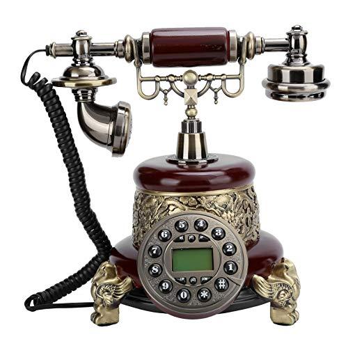 Goshyda Teléfono Retro, teléfono Antiguo clásico Europeo de línea Fija con luz de Fondo para Regalos, Sala de Estar, mesita de Noche, Sala de Estudio, Hotel, Tienda para el hogar