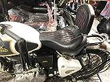 Saumya Customs Diamond Bucket Seat with Pentagon Backrest for Royal Enfield