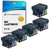 25 Cartuchos de Tinta compatibles para Brother DCP-145C 165C 195C 197C 375CW 383C 385C 387C 395CN 585CW 6690CW MFC-250C 290C 490CW 5490CN 5890CN 5895CW 6490CW 790CW 795CW 990CW J615W | LC1100 LC980