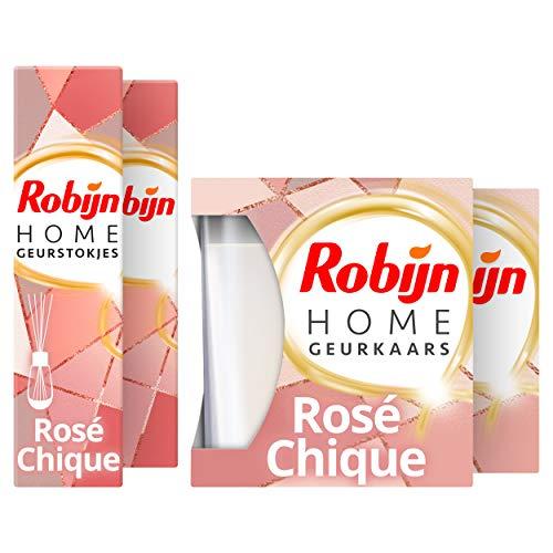 Robijn Home Rosé Chique Geurpakket - Geurstokjes en Geurkaars