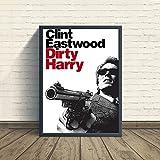 Liuqidong Poster Wandbilder Dirty Harry Filmplakat Leinwand
