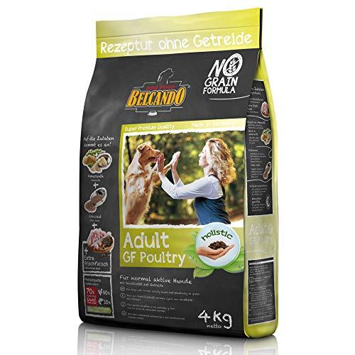 Belcando Adult GF Poultry [4 kg] Hundefutter | Rezeptur ohne Getreide | Alleinfuttermittel für ausgewachsene Hunde ab 1 Jahr