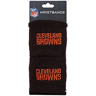 Franklin Sports Cleveland Browns NFL Wristbands - Youth NFL Team Logo Wristbands - Great for Costumes and Uniforms - Pair of Wristbands