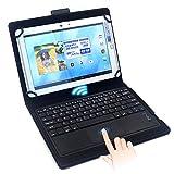 F.G.S キーボードケース 9-10インチ汎用 タッチパッド搭載 Bluetooth キーボード マルチOS対応 (Android/Windows8/iOS対応) [JP配列/US配列両方対応] 超薄型 日本語取扱説明書付き ブラック F.G.S正規代理品