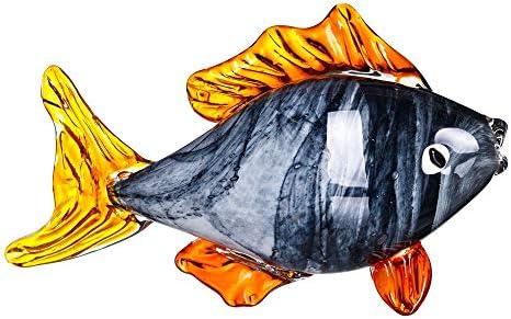 Figura pez de Cristal Gris de 29x15x17 cm - LOLAhome