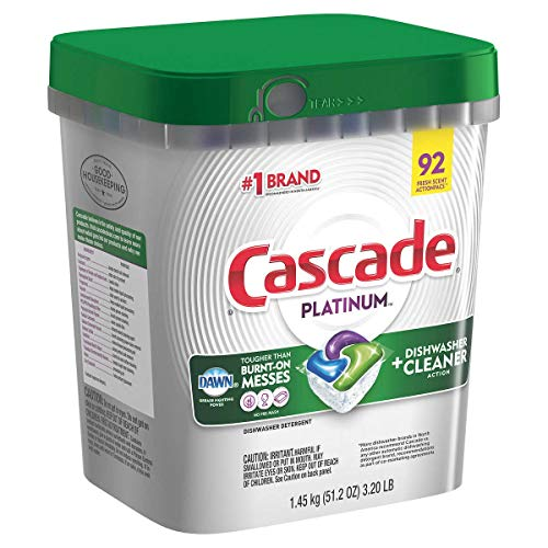Cascade Platinum ActionPacs Dishwasher Detergent with Dawn, Fresh Scent - 92 Count