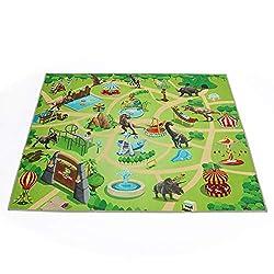 1. Dina Park Dinosaur World Kids Play Mat Rug