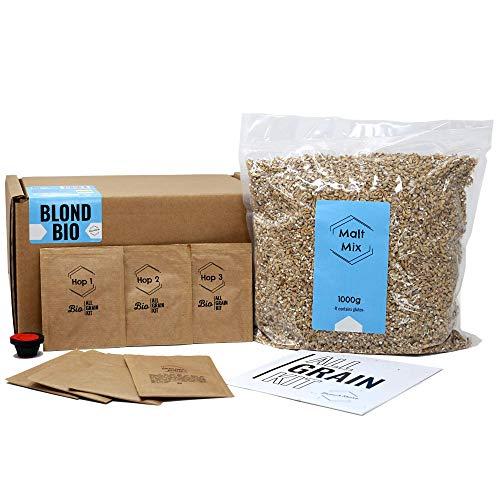BNKR BEER Brew&Share Nachfüllpackung für Bier Blond Bio mit Bio-Zertifikat | Ihr Bier in 2 Wochen | Herstellung mit Malz und Hopfen