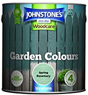 Johnstone's Woodcare Garden Colours is a fade resisting smooth and rich coloured paint for exterior wood. The easy to apply formulation provides a beautiful layer of long lasting colour, without losing the natural grain of the wood. It will colour an...