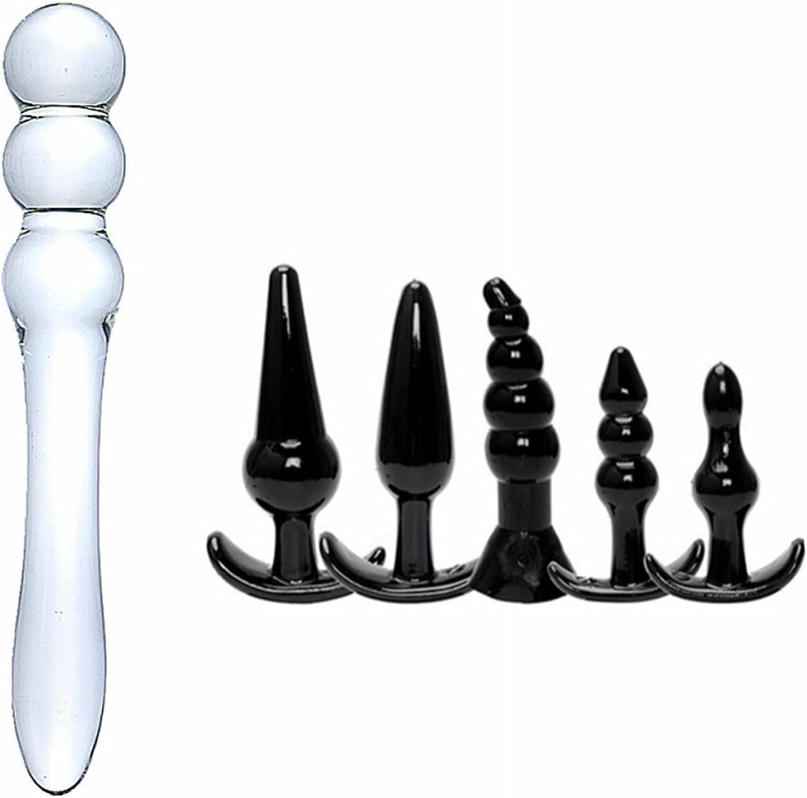 Glass Selling Butt Plug Anal Sex Ana Toy Trainer Kit Set gift