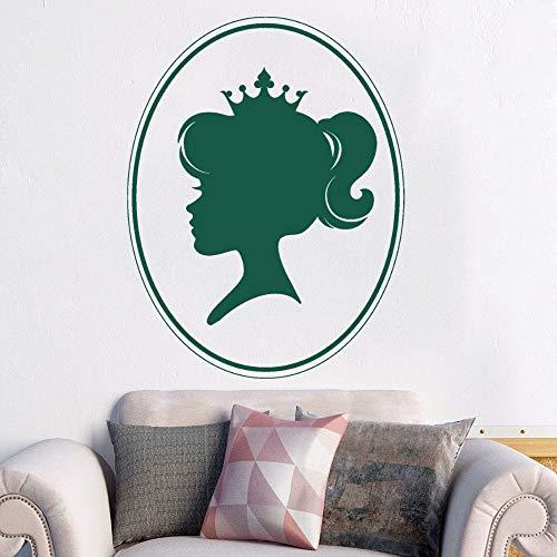 YuanMinglu Hermosa Princesa con Corona niño Pegatina Dormitorio Familiar decoración de Arte de Pared 57x73cm