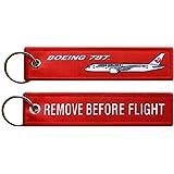 【 メール便発送 】 日本航空 Japan Air lines JAL LOGO BOEING 787 Dreamliner REMOVE BEFORE FLIGHT ボーイング 787 ドリームライナー キーチェーン キーホルダー フライト タグ