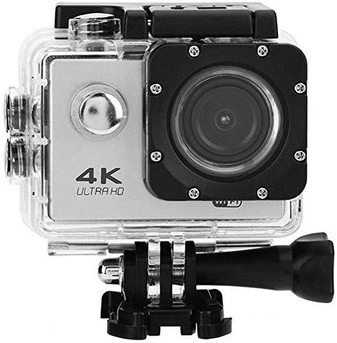 INGHU Action Kamera 4K Wi-Fi Wasserdicht Camcorder, 30M/98ft 130 Grad Weitwinkel 2 Inch LCD Bildschirm Sport Cam, Fernbedienung/Aufnahme Kamera - Silber Grau, Einheitsgröße