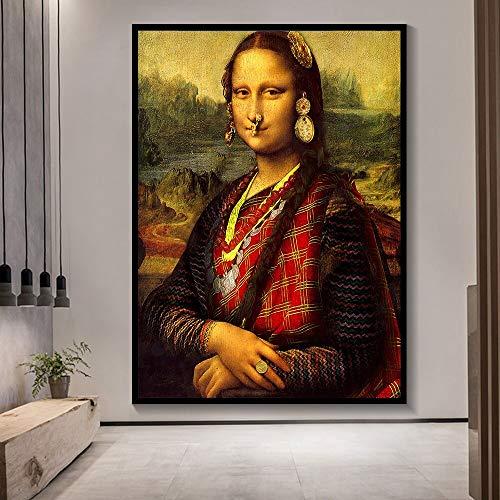 wZUN Cartel de minimalismo de Estilo nórdico Arte de Pared Impresiones en Lienzo imágenes Sala de Estar decoración del hogar 60x80 Sin Marco