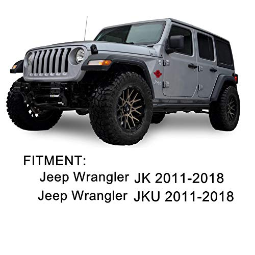 JeCar Door Handle Covers Tailgate Handle Covers Exterior Accessories for 2007-2018 Jeep Wrangler JK JKU 2007-2011 Dodge Nitro 2008-2012 Jeep Liberty Red