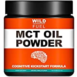 MCT Oil Powder + Nootropic Boosters - Wild Fuel Keto Coffee Creamer, Ketogenic Diet Support - Easy Blend, Rapidly Absorbed Body, Weight and Brain Function Support - 12.7oz - 30 Servings - Vanilla