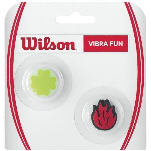 Wilson Vibra Fun Vibration Dampener (Clover/Red Flame) by Wilson