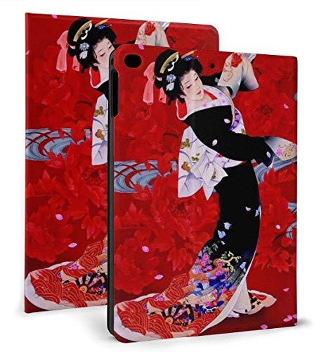 Dancing Japanese PU Leather Smart Case Función Auto Sleep / Wake para iPad Mini 4/5 7,9 'y iPad Air 1/2 9,7' Funda