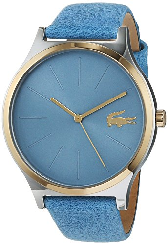 Lacoste Unisex Analog Quarz Uhr mit Leder Armband 2001012