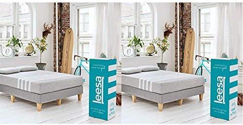 Leesa in a Box Mattress King Gray White Original Bed in a Box Three Premium Foam Layers Mattress product image