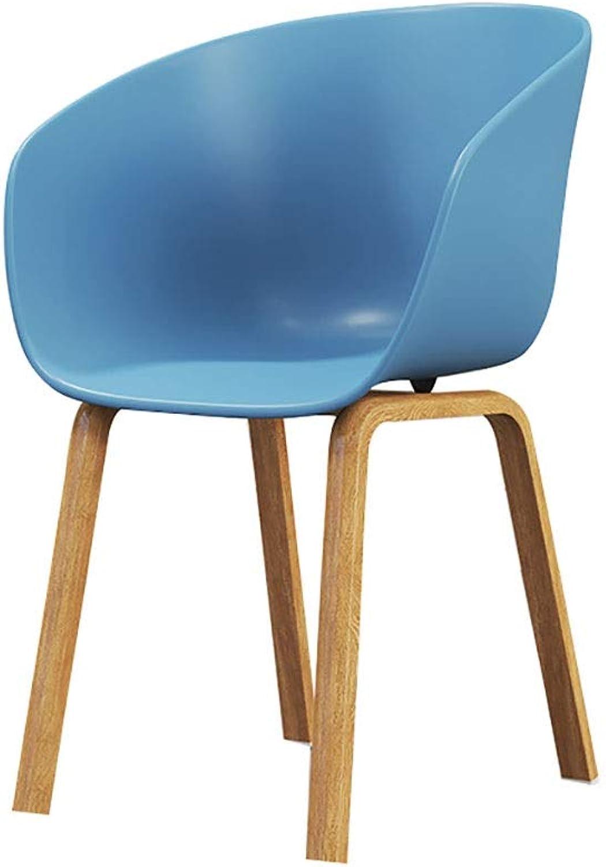 Dining Chair Modern Minimalist Home Leisure Talk Fashion Adult Plastic Chair Armrest Chair Stool (color   bluee)