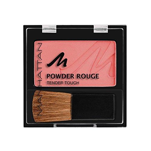Manhattan Powder Rouge, Rosa-rotes Blush mit Puder Textur und beiliegendem Pinsel, Farbe Elegant Violett 39N, 1 x 5g