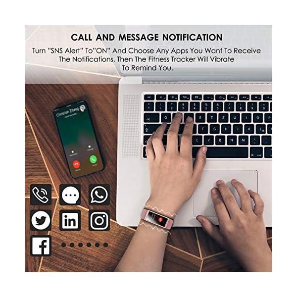 CHEREEKI Pulsera Actividad, Pulsera de Actividad IP68 con Pulsómetro, LCD táctil Pulsera Inteligente Monitor de Calorías… 2