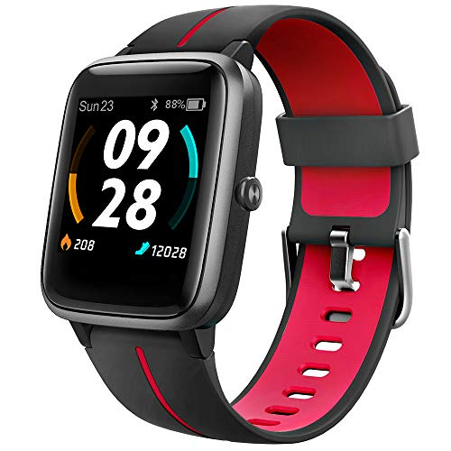 """UMIDIGI GPS Smart Watch, Activity Fitness Tracker with Heart Rate Monitor, 1.3"""" Touch Screen Pedometer Smartwatch for Mens Womens, 5ATM Waterproof Step Counter Compatible with iPhone, Samsung, Android"""