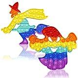 Skisneostype Halloween Push Pop Bubble Poppet Fidget Toys Set Popet Juguetes Plopper Juguetes Sensory Squeeze Toys, Juguetes de Figura antiestrés para personas con TDAH o autismo, espíritu y bruja