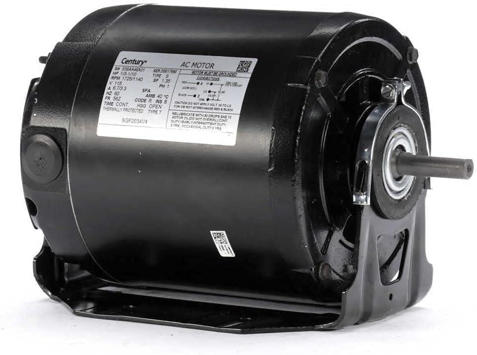 Century AO 100% quality warranty! Smith SGF2034V4 Split-Phase 1 3 Motor Milwaukee Mall Resilient