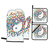 F-shop Ying Yang Decor Collection Rainbow Color Confetti Effect Graphic Design On Ying Yang Sign...