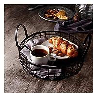 天使の家 フルーツバスケットパンのバスケットヨーロッパの鍛造鉄の貯蔵バスケット単純なストレージバスケットペストリーのバスケット