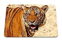 22cmx18cm マウスパッド (タイガーフェイスプレデタービッグキャット) パターンカスタムの マウスパッド