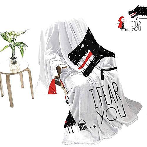 QDAS wolf dekens verhaal met meisje sjaal eng schets vriendin rood wit