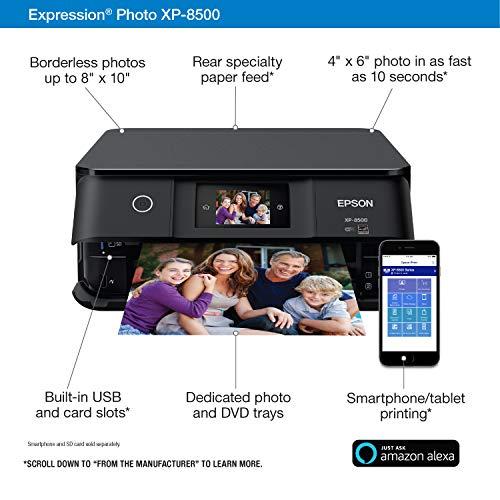 Epson Expression Photo XP-8500 Wireless Color Photo Printer with Scanner and Copier, Amazon Dash Replenishment Ready Photo #5