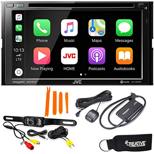 JVC KW-V850BT Compatible with Android Auto, CarPlay + SiriusXM Satellite Radio Tuner & Back-Up Camera