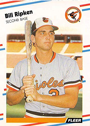 1988 Fleer Baseball #569 Billy Ripken RC Rookie Card Baltimore Orioles Official MLB Trading Card From Fleer