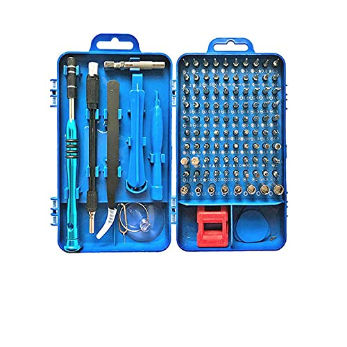 Juego de destornilladores 112 en 1 Juego de puntas de destornillador Dispositivo multifunción de reparación de teléfonos móviles Herramientas de mano Hex-SPAIN, 112-Blue
