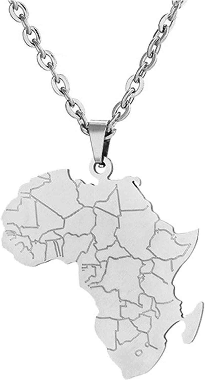 DOAFRIAFRI African Unisex Map Necklace Tribal Necklace Ankara Hiphop Style Necklace Eye of Horus Necklace
