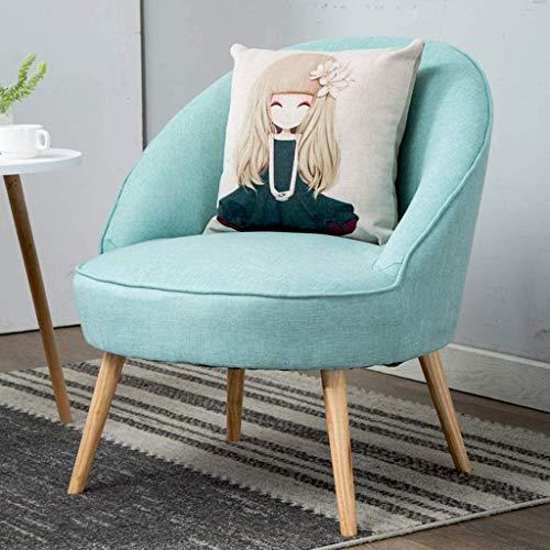 WYL Moderna de Lino Silla de Escritorio, Cocina Silla de Comedor, 128 ° Respaldo reclinable de diseño, Multicolor Selección y Matching, decoración casera (Color : Mint Green)